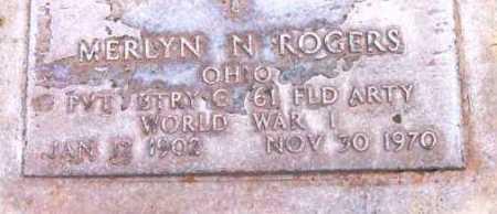 ROGERS, MERLYN N. - Yavapai County, Arizona | MERLYN N. ROGERS - Arizona Gravestone Photos
