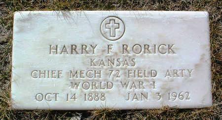 RORICK, HARRY FRANKLIN - Yavapai County, Arizona | HARRY FRANKLIN RORICK - Arizona Gravestone Photos