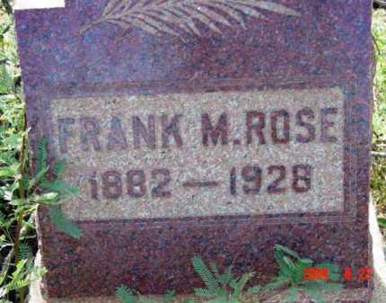 ROSE, FRANK M. - Yavapai County, Arizona | FRANK M. ROSE - Arizona Gravestone Photos
