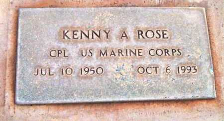 ROSE, KENNY A. - Yavapai County, Arizona | KENNY A. ROSE - Arizona Gravestone Photos
