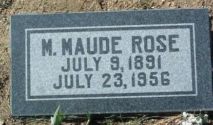 BASYE ROSE, MILLIE MAUDE - Yavapai County, Arizona | MILLIE MAUDE BASYE ROSE - Arizona Gravestone Photos