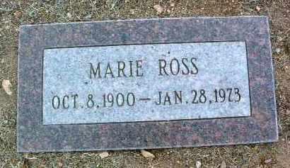 ROSS, MARIE - Yavapai County, Arizona | MARIE ROSS - Arizona Gravestone Photos