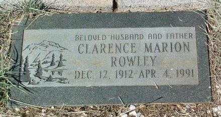 ROWLEY, CLARENCE MARION - Yavapai County, Arizona | CLARENCE MARION ROWLEY - Arizona Gravestone Photos
