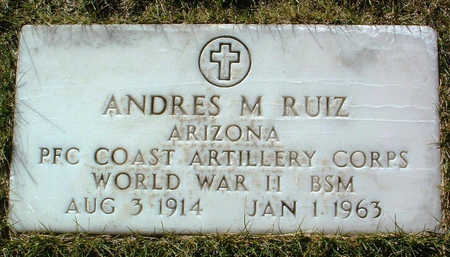 RUIZ, ANDRES M. - Yavapai County, Arizona | ANDRES M. RUIZ - Arizona Gravestone Photos