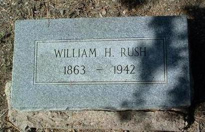 RUSH, WILLIAM H. - Yavapai County, Arizona | WILLIAM H. RUSH - Arizona Gravestone Photos