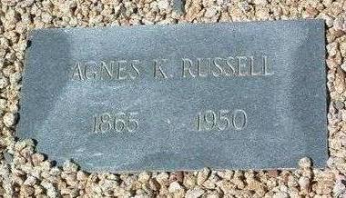 RUSSELL, AGNES K. - Yavapai County, Arizona | AGNES K. RUSSELL - Arizona Gravestone Photos