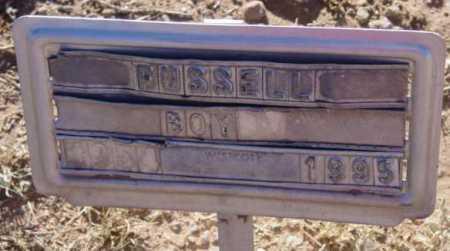 RUSSELL, BOY - Yavapai County, Arizona | BOY RUSSELL - Arizona Gravestone Photos