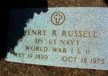 RUSSELL, HENRY R. (BUDDY) - Yavapai County, Arizona | HENRY R. (BUDDY) RUSSELL - Arizona Gravestone Photos