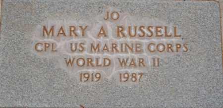 RUSSELL, MARY A. (JO) - Yavapai County, Arizona | MARY A. (JO) RUSSELL - Arizona Gravestone Photos