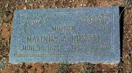 JACOBS RUSSELL, MALINDA AGNES - Yavapai County, Arizona | MALINDA AGNES JACOBS RUSSELL - Arizona Gravestone Photos