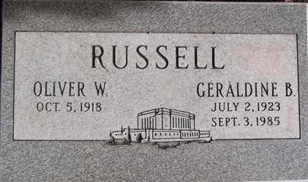 RUSSELL, OLIVER WALTON - Yavapai County, Arizona | OLIVER WALTON RUSSELL - Arizona Gravestone Photos