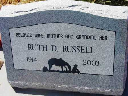 RUSSELL, RUTH DELLA - Yavapai County, Arizona | RUTH DELLA RUSSELL - Arizona Gravestone Photos