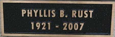 RUST, PHYLLIS B. - Yavapai County, Arizona | PHYLLIS B. RUST - Arizona Gravestone Photos