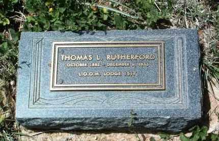 RUTHERFORD, THOMAS L. - Yavapai County, Arizona | THOMAS L. RUTHERFORD - Arizona Gravestone Photos