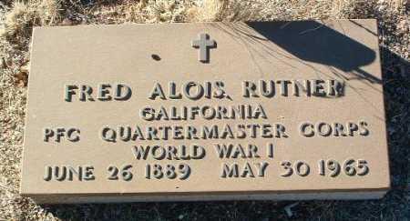 RUTNER, FRED ALOIS - Yavapai County, Arizona | FRED ALOIS RUTNER - Arizona Gravestone Photos