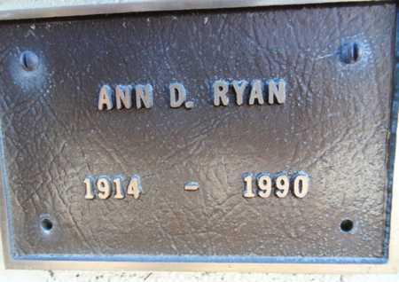 RYAN, ANN - Yavapai County, Arizona | ANN RYAN - Arizona Gravestone Photos