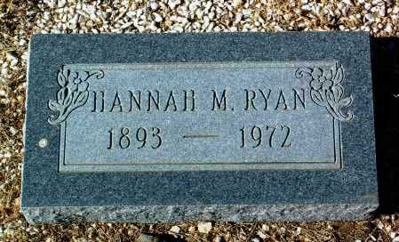 RYAN, HANNAH M. - Yavapai County, Arizona | HANNAH M. RYAN - Arizona Gravestone Photos