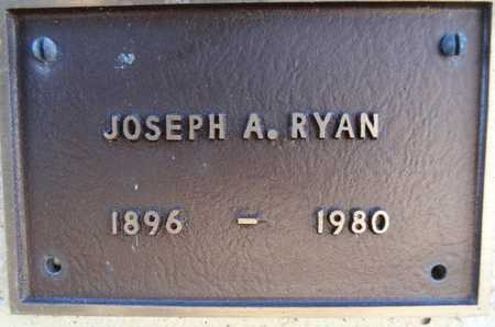 RYAN, JOSEPH ALBINUS - Yavapai County, Arizona | JOSEPH ALBINUS RYAN - Arizona Gravestone Photos
