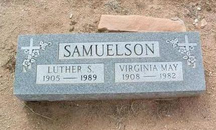 SAMUELSON, LUTHER SOLOMON - Yavapai County, Arizona | LUTHER SOLOMON SAMUELSON - Arizona Gravestone Photos