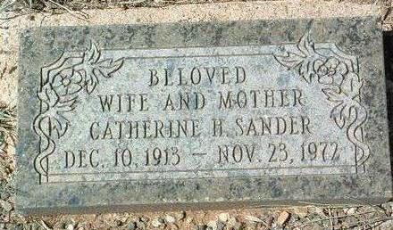 SANDER, CATHERINE H. - Yavapai County, Arizona | CATHERINE H. SANDER - Arizona Gravestone Photos