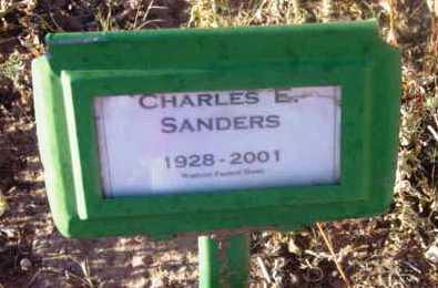 SANDERS, CHARLES EDWIN - Yavapai County, Arizona | CHARLES EDWIN SANDERS - Arizona Gravestone Photos