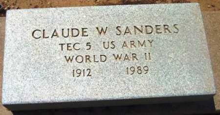 SANDERS, CLAUDE W. - Yavapai County, Arizona | CLAUDE W. SANDERS - Arizona Gravestone Photos