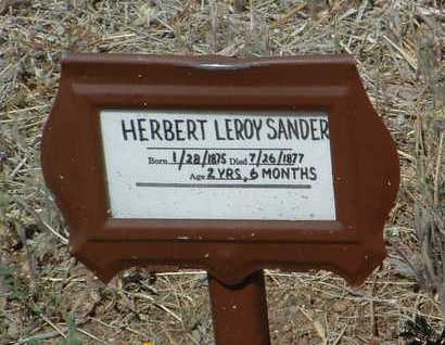 SANDERS, HERBERT LEROY - Yavapai County, Arizona | HERBERT LEROY SANDERS - Arizona Gravestone Photos