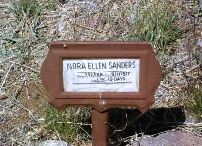SANDERS, NORA ELLEN - Yavapai County, Arizona | NORA ELLEN SANDERS - Arizona Gravestone Photos