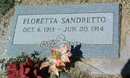 SANDRETTO, FLORETTA - Yavapai County, Arizona   FLORETTA SANDRETTO - Arizona Gravestone Photos