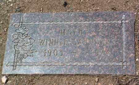 RIGGS SAUNDERS, WINNIE - Yavapai County, Arizona   WINNIE RIGGS SAUNDERS - Arizona Gravestone Photos
