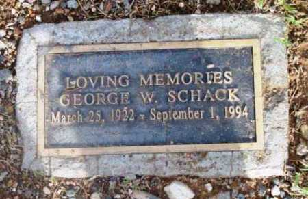 SCHACK, GEORGE W. - Yavapai County, Arizona | GEORGE W. SCHACK - Arizona Gravestone Photos