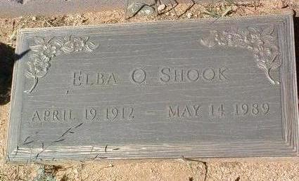 SCHOFNER SHOOK, ELBA - Yavapai County, Arizona | ELBA SCHOFNER SHOOK - Arizona Gravestone Photos