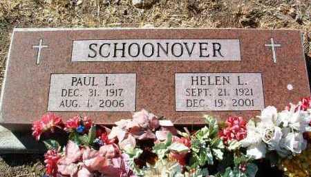 SCHOONOVER, HELEN L. - Yavapai County, Arizona | HELEN L. SCHOONOVER - Arizona Gravestone Photos