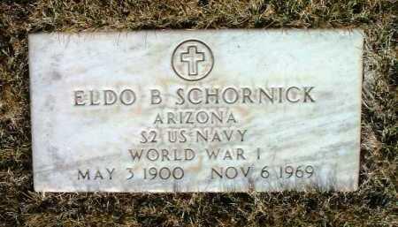 SCHORNICK, ELDO B. - Yavapai County, Arizona | ELDO B. SCHORNICK - Arizona Gravestone Photos