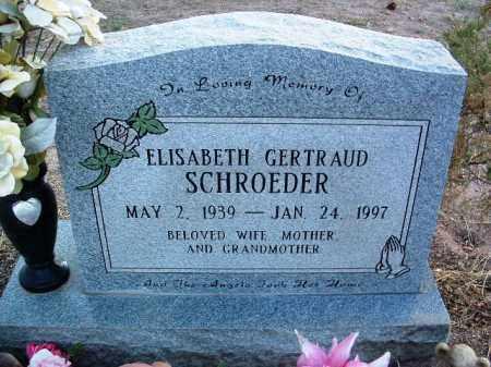 SCHROEDER, ELISABETH GERTRAUD - Yavapai County, Arizona   ELISABETH GERTRAUD SCHROEDER - Arizona Gravestone Photos