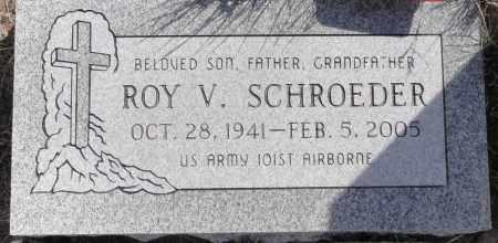 SCHROEDER, ROY V. - Yavapai County, Arizona   ROY V. SCHROEDER - Arizona Gravestone Photos