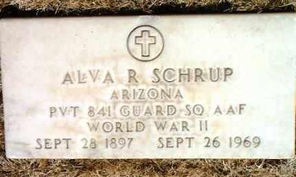 SCHRUP, ALVA RAY - Yavapai County, Arizona | ALVA RAY SCHRUP - Arizona Gravestone Photos