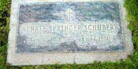 SCHUBERT, RENATE SPRINGER - Yavapai County, Arizona | RENATE SPRINGER SCHUBERT - Arizona Gravestone Photos
