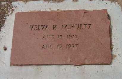 SCHULTZ, VELVA K. - Yavapai County, Arizona | VELVA K. SCHULTZ - Arizona Gravestone Photos