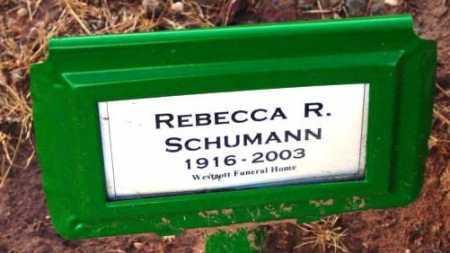 SCHUMANN, REBECCA R. - Yavapai County, Arizona | REBECCA R. SCHUMANN - Arizona Gravestone Photos