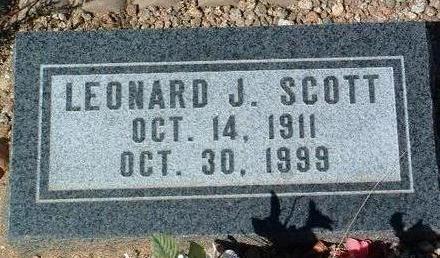 SCOTT, LEONARD J. - Yavapai County, Arizona   LEONARD J. SCOTT - Arizona Gravestone Photos