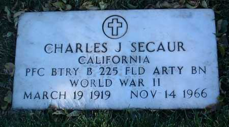 SECAUR, CHARLES J. - Yavapai County, Arizona | CHARLES J. SECAUR - Arizona Gravestone Photos