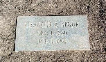 SEGUR, GRANGER ALBERT - Yavapai County, Arizona | GRANGER ALBERT SEGUR - Arizona Gravestone Photos