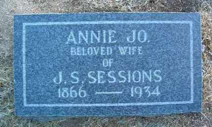 SESSIONS, ANNIE JOSEPHINE (JO) - Yavapai County, Arizona | ANNIE JOSEPHINE (JO) SESSIONS - Arizona Gravestone Photos