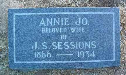 ALLEN SESSIONS, ANNIE J. - Yavapai County, Arizona | ANNIE J. ALLEN SESSIONS - Arizona Gravestone Photos