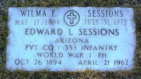 SESSIONS, EDWARD LEE - Yavapai County, Arizona | EDWARD LEE SESSIONS - Arizona Gravestone Photos