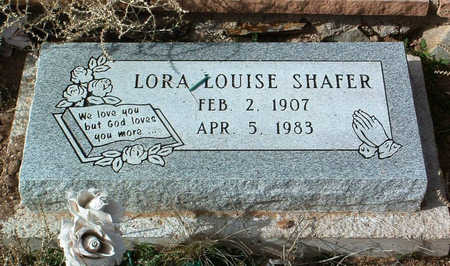 SHAFER, LORA LOUISE - Yavapai County, Arizona   LORA LOUISE SHAFER - Arizona Gravestone Photos