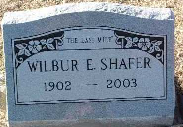 SHAFER, WILBUR E. - Yavapai County, Arizona | WILBUR E. SHAFER - Arizona Gravestone Photos