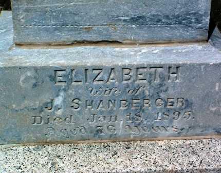 SHANBERGER, ELIZABETH - Yavapai County, Arizona | ELIZABETH SHANBERGER - Arizona Gravestone Photos