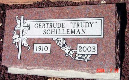 SCHILLEMAN, GERTRUDE (TRUDY) - Yavapai County, Arizona   GERTRUDE (TRUDY) SCHILLEMAN - Arizona Gravestone Photos